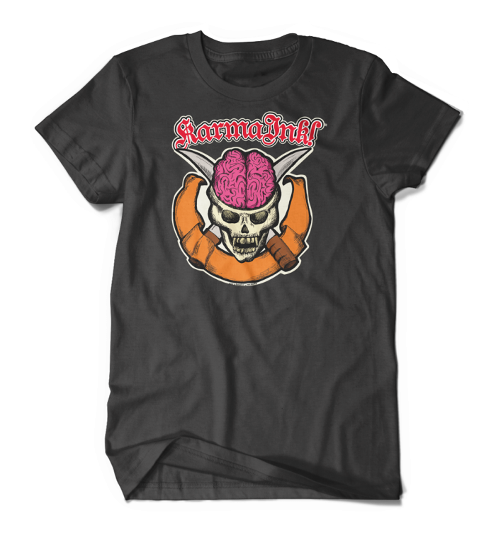 Karma Ink! - Brain Skull T-Shirt